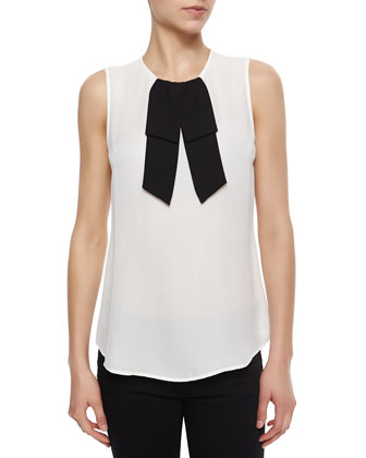 Turnia Bow-Front Silk Blouse