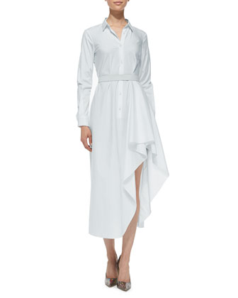 Diaz Asymmetric Long Shirtdress