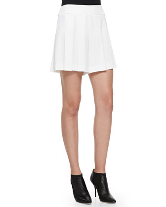 High-Waist Box-Pleated Shorts