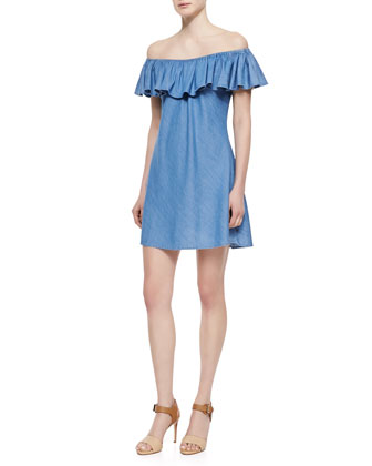 The Honey Ruffle Off-the-Shoulder Dress
