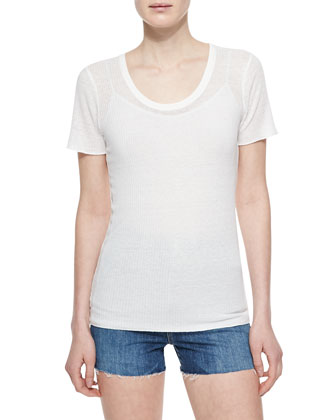 The Perfect Ribbed Tee