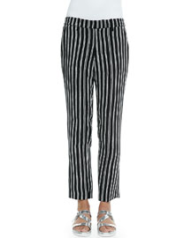 Levin Striped Ankle Pants
