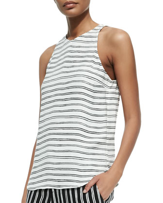 Anise Sleeveless Striped Top