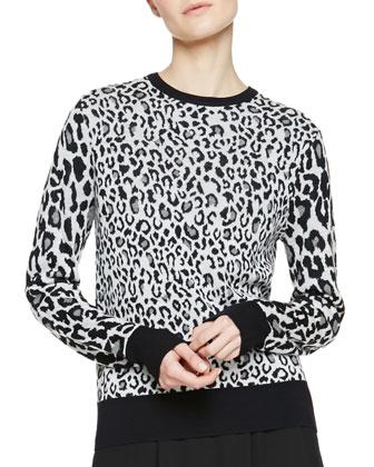 Algoston Animal Print Sweater