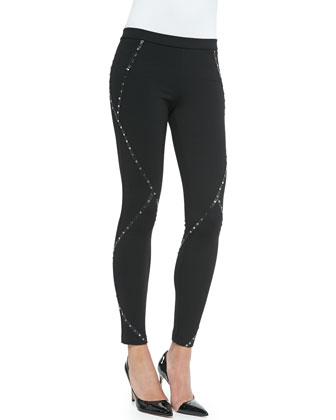 Skinny Pants with Stud Detail