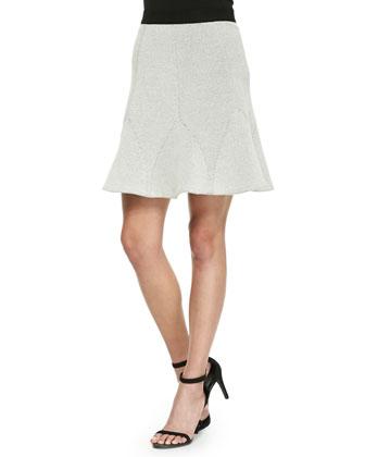 Flare-Hem Jacquard Skirt