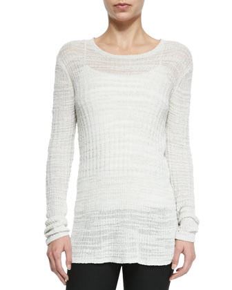 Lightweight Knit See-Through Sweater