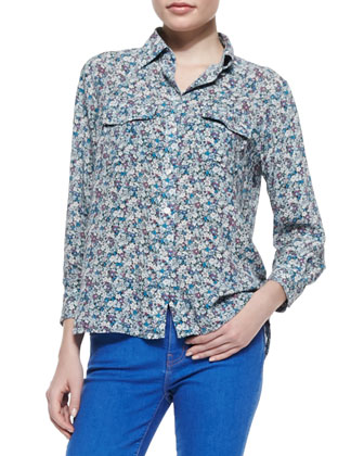 The Perfect Floral-Print Shirt