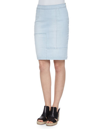 Le High-Waist Patchwork Pencil Skirt