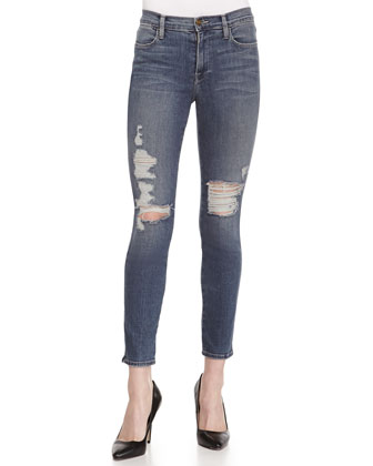 Le High Skinny Distressed Jeans, Seeley