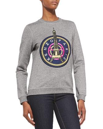 Crewneck Sweatshirt W/ Kenzo Paris Logo