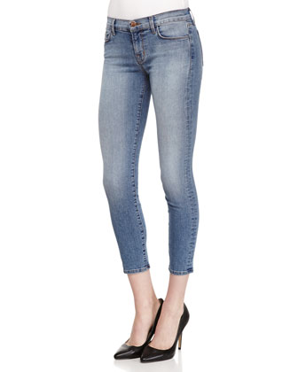 Mid-Rise Cropped Denim Jeans, Dynamic