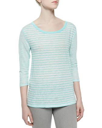 Kilinda Yarn-Dyed Linen Slub Tee
