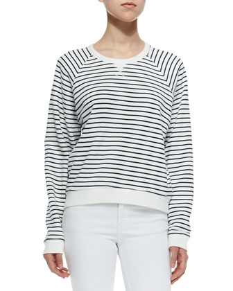 The Glenna Striped Crewneck Sweatshirt