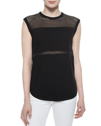 The Marlo Solid/Mesh Tank