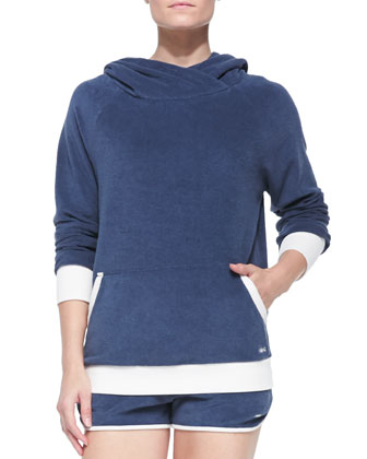 Jodie Velour Hooded Pullover