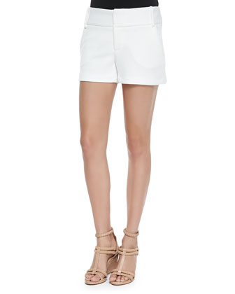 Textured Cady Structured Shorts