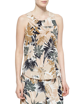 Patricia Silk Floral-Print Top