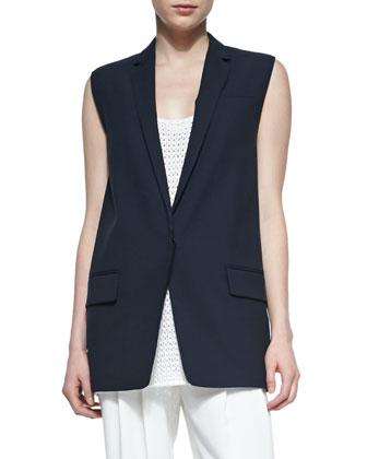 Francois Wool-Crepe Suit Vest