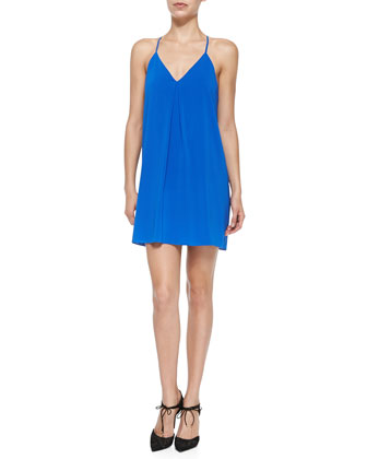 Firerra Y-Back Stretch-Silk Dress