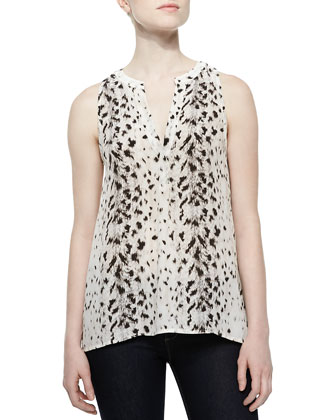 Aruna Printed Chiffon Sleeveless Top