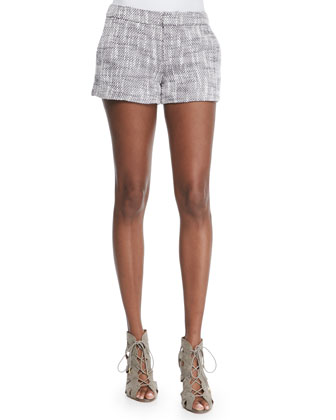 Merci Structured Tweed Shorts