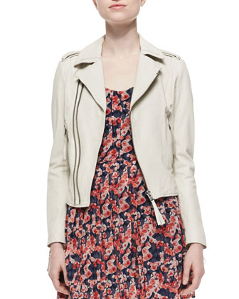 Ailey Paper-Weight Leather Moto Jacket