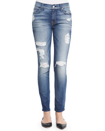 The Ankle Skinny-Fit Destroyed Jeans