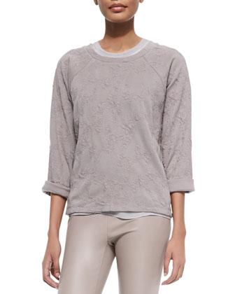 Knit Jacquard Pullover Sweatshirt