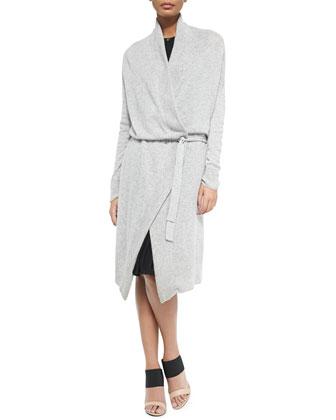 Oversize Knit Tie-Waist Cardigan