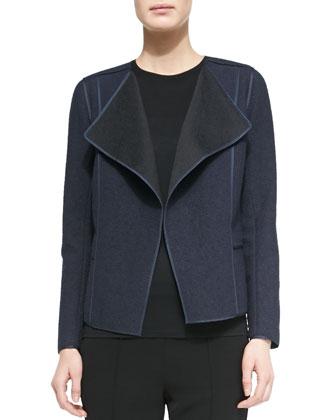 Asymmetric Boucle Jacket