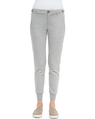 Heathered Knit Jogging Pants