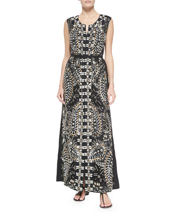 Voleta Beaded Voile Maxi Dress