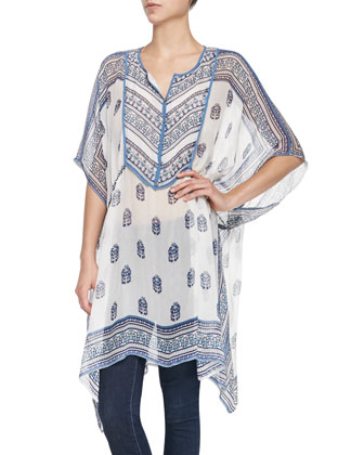 Mauzi 3/4-Sleeve Printed Tunic