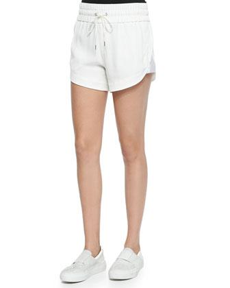 Blaze Drawstring Shorts with Shirred Waistband