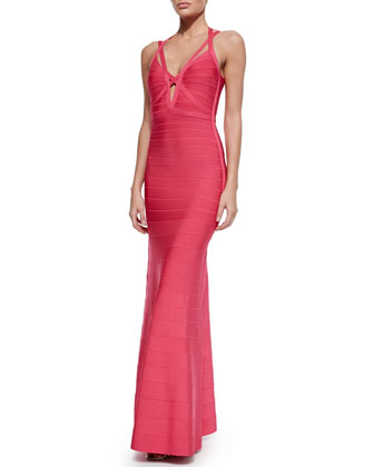 Adalet Double-Strap Cutout Gown