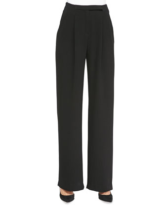 Nicholson Pleated Wide-Leg Trousers