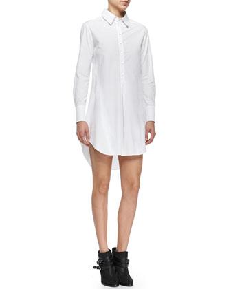 Felix Long-Sleeve Cotton Shirtdress