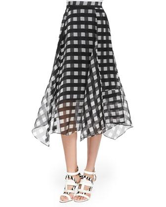 Yasmin Printed Handkerchief-Hem Skirt