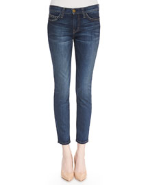 The Stiletto Townie Faded Slim Cropped Jeans