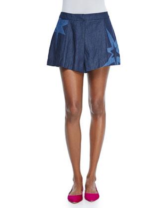 Ace Wide-Leg Star Shorts