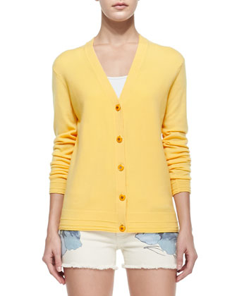 Madison V-Neck Button-Front Cardigan, Sun