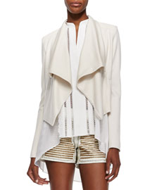 Cory Draped Open Crepe Jacket