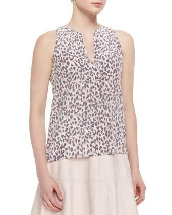Aruna Leopard-Print Silk Blouse