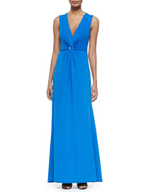 Sleeveless Gown W/ Gathered Front