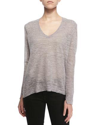 Berendo Knit V-Neck Sweater