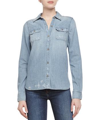 Dakota Woven Chambray Shirt