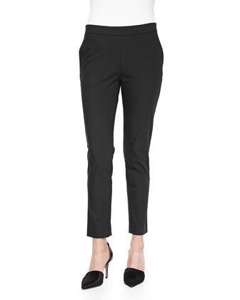 Thaniel Cropped Straight-Leg Pants