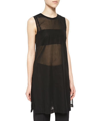 Pinga Long Sheer Sleeveless Top