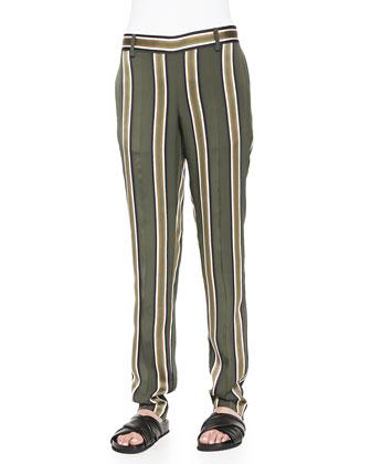 Termin Striped Straight-Leg Pants